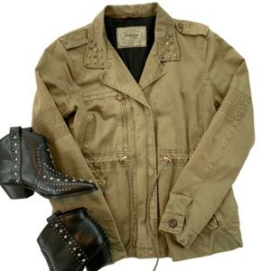 Zara Trafaluc Collection Studded Utility Jacket M